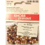 """Бусины деревянные d=4мм 165шт коричневый микс """"Knorr prandell"""" (Германия)"""