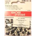 """Бусины деревянные d=4мм 165шт черно-белый микс """"Knorr prandell"""" (Германия)"""