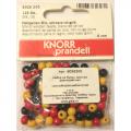 """Бусины деревянные d=6мм 125шт черно-красно-желтый микс """"Knorr prandell"""" (Германия)"""