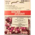 """Бусины деревянные d=6мм 125шт розовый микс """"Knorr prandell"""" (Германия)"""
