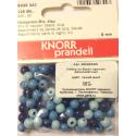 """Бусины деревянные d=6мм 125шт синий микс """"Knorr prandell"""" (Германия)"""