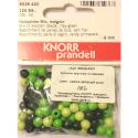"""Бусины деревянные d=6мм 125шт нежно-зелёный микс """"Knorr prandell"""" (Германия)"""
