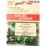 """Бусины деревянные d=6мм 125шт зелёный микс """"Knorr prandell"""" (Германия)"""