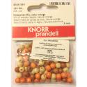 """Бусины деревянные d=6мм 125шт натуральный/оранжевый микс """"Knorr prandell"""" (Германия)"""