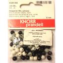 """Бусины деревянные d=6мм 125шт черно-белый микс """"Knorr prandell"""" (Германия)"""