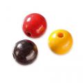 """Бусины деревянные d=10мм 50шт черно-красно-желтый микс """"Knorr prandell"""" (Германия)"""