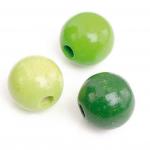 """Бусины деревянные d=10мм 50шт нежно-зелёный микс """"Knorr prandell"""" (Германия)"""