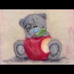 """Набор для картины шерстью """"Татти Тедди с яблочком"""" """"Woolla"""""""