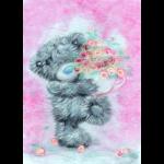 """Набор для картины шерстью """"Татти Тедди с цветами"""" """"Woolla"""""""