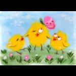 """Набор для картины шерстью """"Веселые цыплята"""" """"Woolla"""""""