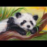 "Набор для картины шерстью ""Беззаботная панда"" ""Woolla"""