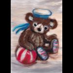 """Набор для картины шерстью """"Мишка морячок"""" """"Woolla"""""""
