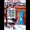 """Набор для картины шерстью """"Русская зима"""" """"Woolla"""""""