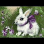 """Набор для картины шерстью """"Крольчонок с бантиком"""" """"Woolla"""""""
