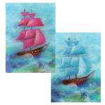 """Набор для картины шерстью """"Парус в море"""" """"Woolla"""""""