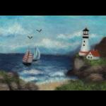 """Набор для картины шерстью """"Морской пейзаж"""" """"Woolla"""""""