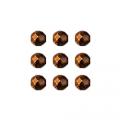 """Бусины стеклянные d=6мм 25шт 97319 коричневый металлик """"Preciosa"""" (Чехия)"""