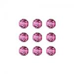 """Бусины стеклянные d=6мм 25шт 97328 розовый металлик """"Preciosa"""" (Чехия)"""