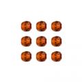 """Бусины стеклянные d=6мм 25шт 97382 оранжевый металлик """"Preciosa"""" (Чехия)"""