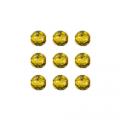 """Бусины стеклянные d=6мм 25шт 97385 жёлтый металлик """"Preciosa"""" (Чехия)"""
