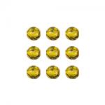 """Бусины стеклянные d=4мм 50шт 97385 жёлтый металлик """"Preciosa"""" (Чехия)"""