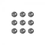 """Бусины стеклянные d=6мм 25шт 97430 серый металлик """"Preciosa"""" (Чехия)"""