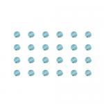 """Бусины стеклянные d=4мм 24шт голубые """"Preciosa"""" (Чехия)"""
