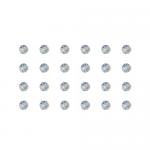 """Бусины стеклянные d=4мм 24шт перламутровые """"Preciosa"""" (Чехия)"""