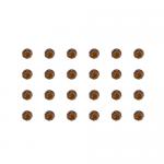 """Бусины стеклянные d=4мм 24шт темно-коричневые """"Preciosa"""" (Чехия)"""