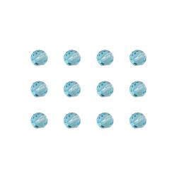 """Бусины стеклянные d=6мм 12шт голубые """"Preciosa"""" (Чехия)"""
