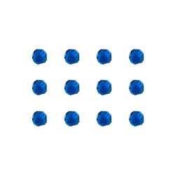 """Бусины стеклянные d=6мм 12шт синие """"Preciosa"""" (Чехия)"""