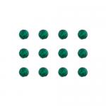 """Бусины стеклянные d=6мм 12шт темно-зеленые """"Preciosa"""" (Чехия)"""