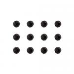 """Бусины стеклянные d=6мм 12шт черные """"Preciosa"""" (Чехия)"""