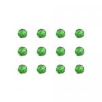 """Бусины стеклянные d=6мм 12шт светло-зеленые """"Preciosa"""" (Чехия)"""
