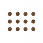 """Бусины стеклянные d=6мм 12шт темно-коричневые """"Preciosa"""" (Чехия)"""