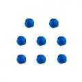 """Бусины стеклянные d=8мм 8шт синие """"Preciosa"""" (Чехия)"""