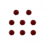 """Бусины стеклянные d=8мм 8шт красные """"Preciosa"""" (Чехия)"""