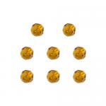 """Бусины стеклянные d=8мм 8шт светло-коричневые """"Preciosa"""" (Чехия)"""