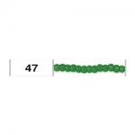 """Бисер 10/0 круглый цв. 0047 т. салатовый 5гр """"Toho"""" (Япония)"""