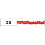 """Бисер 10/0 круглый цв. 0025 оранжево-красный 5гр """"Toho"""" (Япония)"""