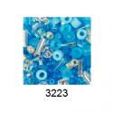 "Бисер ассорти №3223 бело-голубой 25гр ""Toho"" (Япония)"