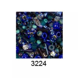 """Бисер ассорти №3224 яр. сине-зеленый 25гр """"Toho"""" (Япония)"""