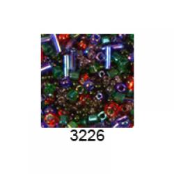 """Бисер ассорти №3226 зелено-фиолетово-красный 25гр """"Toho"""" (Япония)"""