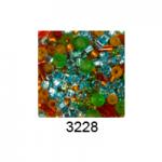 "Бисер ассорти №3228 оранжево-зелено-голубой 25гр ""Toho"" (Япония)"
