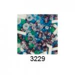 "Бисер ассорти №3229 бело-зелено-голубо-фиолетовый 25гр ""Toho"" (Япония)"