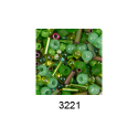 """Бисер ассорти №3221 зеленый 25гр """"Toho"""" (Япония)"""