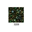 """Бисер ассорти №3209 тёмн-зеленый 25гр """"Toho"""" (Япония)"""