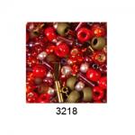 """Бисер ассорти №3218 красно-бронзовый 25гр """"Toho"""" (Япония)"""