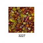 """Бисер ассорти №3227 малиново-зеленый 25гр """"Toho"""" (Япония)"""
