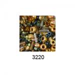 """Бисер ассорти №3220 сине-бронзовый 25гр """"Toho"""" (Япония)"""
